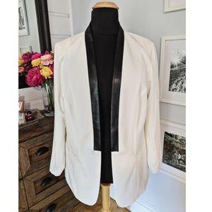 Torrid White Faux Leather Trimmed Tuxedo BlazerNWT
